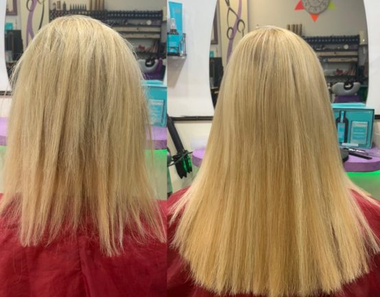 Extensiones great lenghts rubias